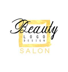 delicate business logo design for beauty salon or vector image