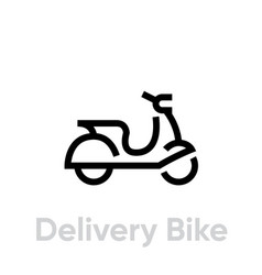 delivery bike icon editable line vector image