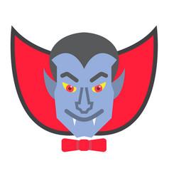 dracula vampire flat icon halloween and scary vector image