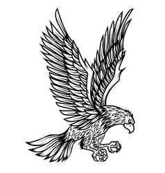 eagle on white background design element for vector image