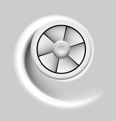 Electric fan with motion effect on gray background vector