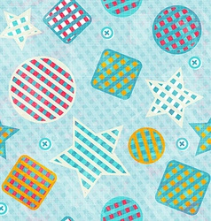 fabric figures seamless pattern vector image