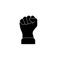 fist icon black on white vector image