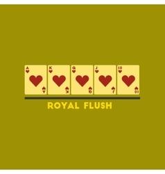 flat icon on stylish background royal flush vector image