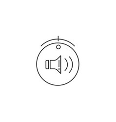 flat volume icon vector image