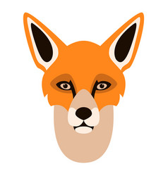 fox face flat style vector image