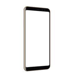 Frameless cellphone mock up isolated vector