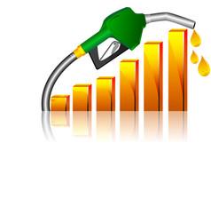 fuel price vector image