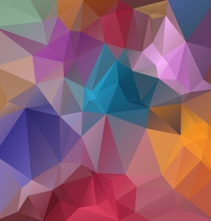 Full spectrum pastel colored polygon triangular vector