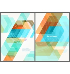 geometric brochure template vector image