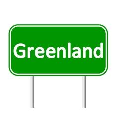 Greenland road sign vector