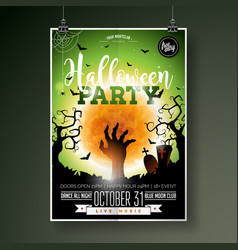Halloween party flyer with vector