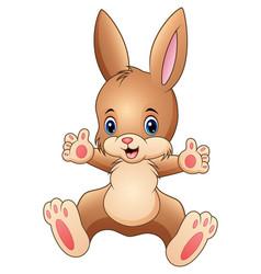 happy rabbit cartoon vector image