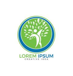 human health and medical logo design vector image