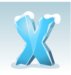 Ice letter x vector