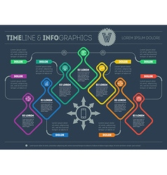 Infographic with design elements presentation vector