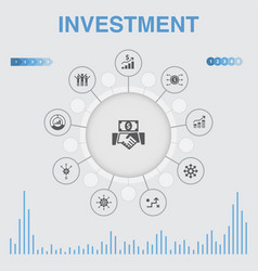 Investment infographic with icons contains such vector