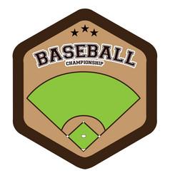 Isolated baseball emblem vector