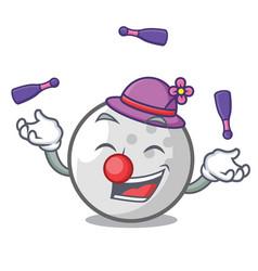 juggling golf ball mascot cartoon vector image
