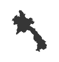 laos map silhouette vector image
