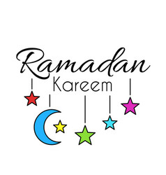 Lettering ramadan kareem vector