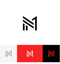 M 1 logo symbol from letters m and one vector