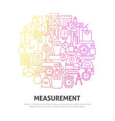 Measurement circle concept vector