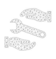 mesh service icon vector image