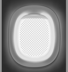Modern airplane empty window mockup place your vector
