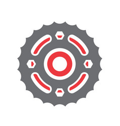 motorcycle cogwheel icon on white background for vector image
