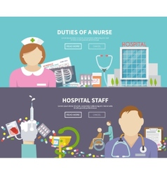 Nurse Banner Set vector