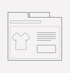 products page icon line element vector image