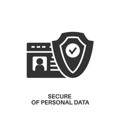 protection personal data icon vector image