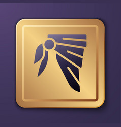Purple bandana or biker scarf icon isolated on vector