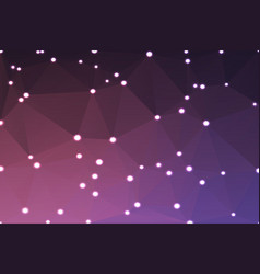 purple blue pink geometric background with lights vector image