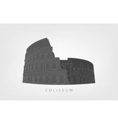 Roman Colosseum isolated on white background vector