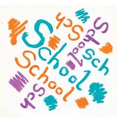 School design background vector