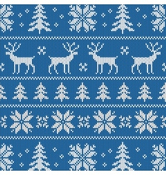 Seamless pattern with classical sweater design vector image