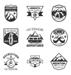 Set of outdoor activity camping vector