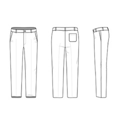 Simple outline drawing of a pants vector image