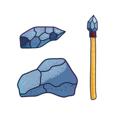 stone age implements in design vector image