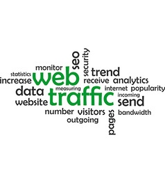 Word cloud web traffic vector