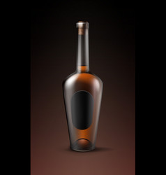 alcohol glass bottle vector image vector image