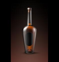 Alcohol glass bottle vector
