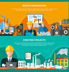 industrial design banners collection vector image