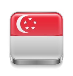 Metal icon of Singapore vector image