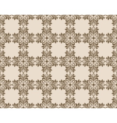 Vintage geometric floral classic pattern vector image vector image