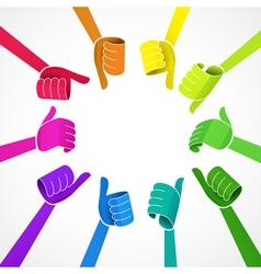 Color hands vector image vector image