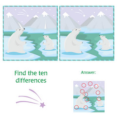 educational game find differences mother polar vector image