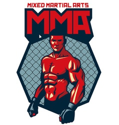 MMA fighter stand vector image vector image